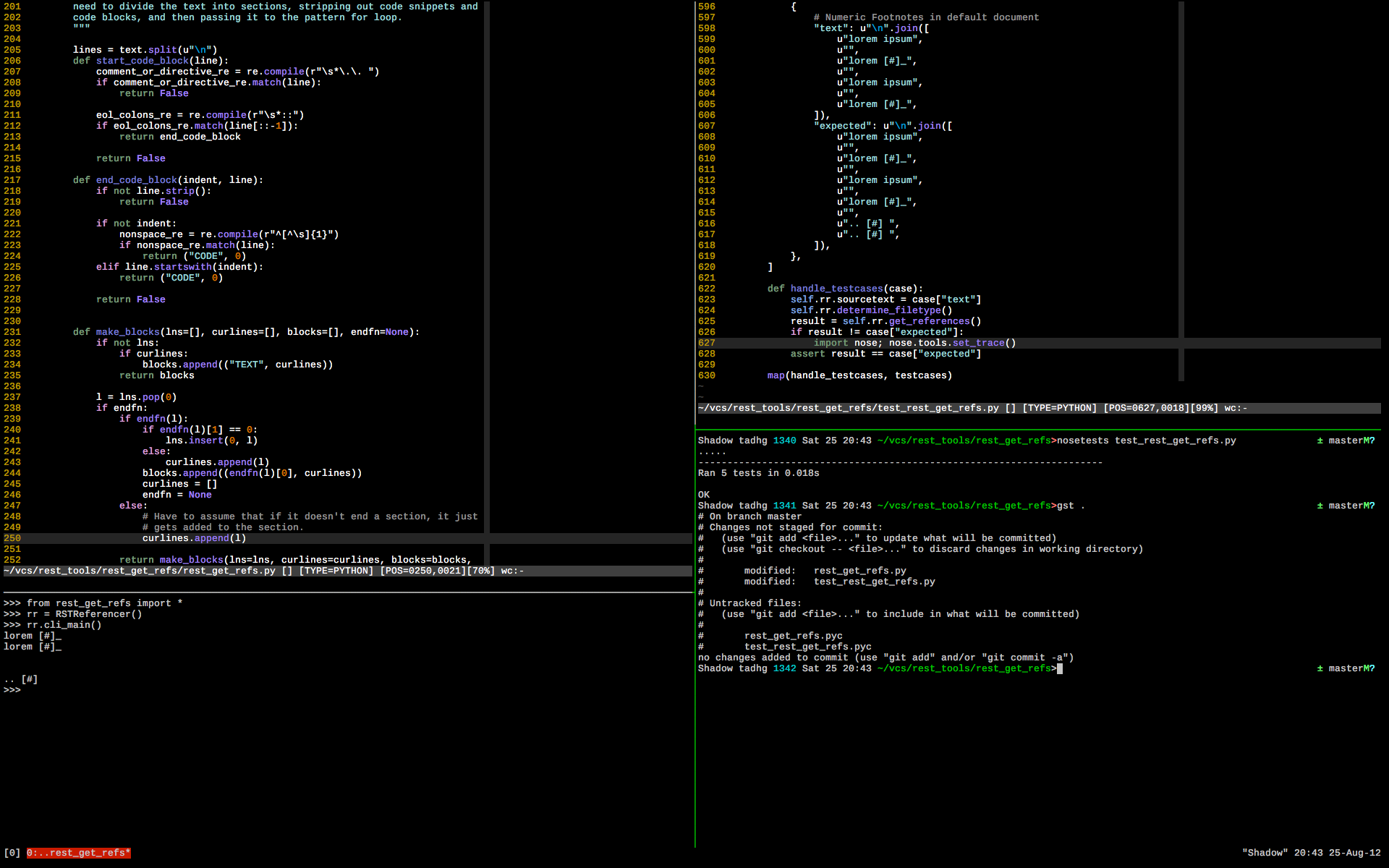 vim and tmux in os x